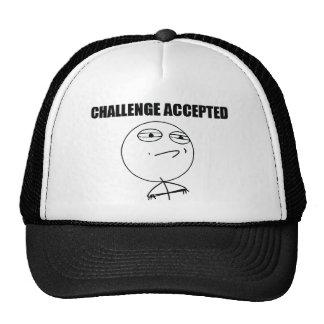 Accepterad utmaning trucker keps