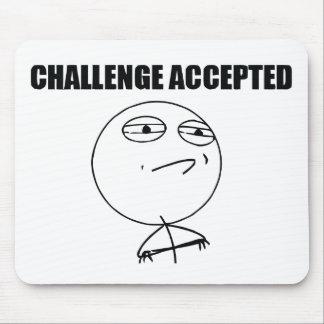 Accepterad utmaning musmatta