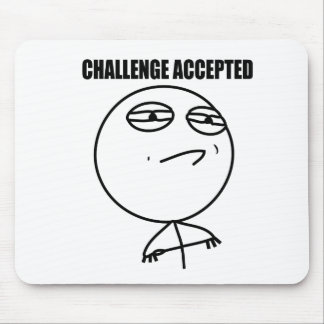 Accepterad utmaning musmattor
