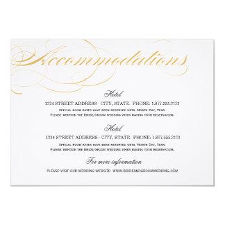 Accommodations Card - Gold & Black 11,4 X 15,9 Cm Inbjudningskort