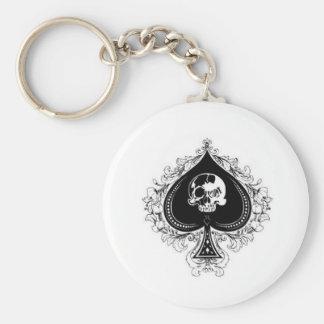 ace_of_spades1 rund nyckelring