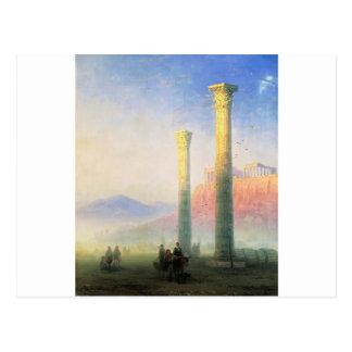 Acropolisen av Athens av Ivan Aivazovsky Vykort