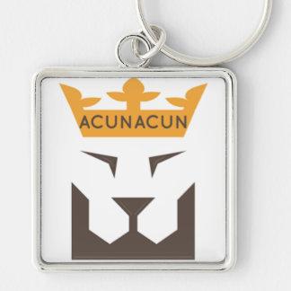 ACUNACUN-keychain Fyrkantig Silverfärgad Nyckelring