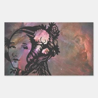 Ada Lovelace med den Orion nebulaen Rektangulärt Klistermärke