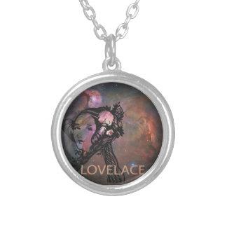 Ada Lovelace med den Orion nebulaen Silverpläterat Halsband