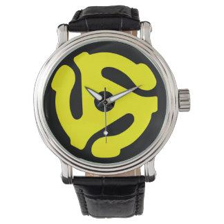 adapterklocka för 45 r/min. (gult på svart)