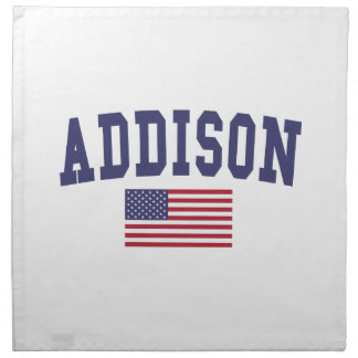 Addison US flagga Tygservett