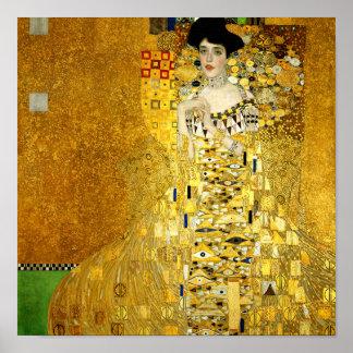 Adele Bloch-Bauer mig vid det Gustav Klimt Poster