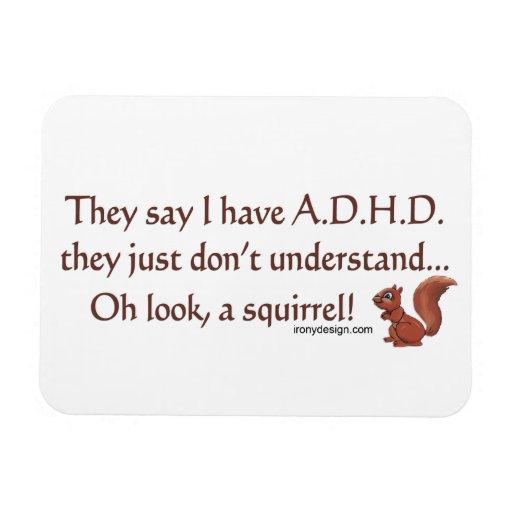 ADHD-ekorrehumor Rektangulära Magneter