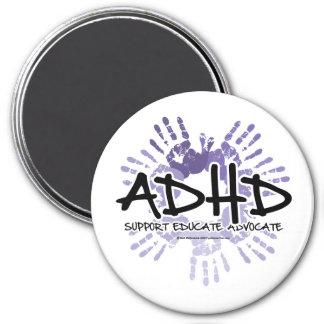 ADHD Handprint Magnet Rund 7.6 Cm