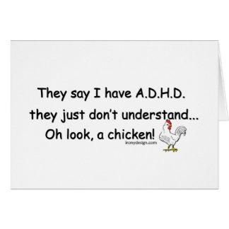ADHD-hönahumor Hälsningskort