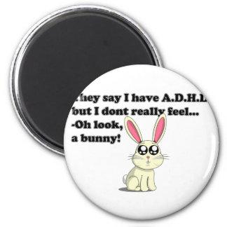 ADHD-kanin Magnet Rund 5.7 Cm