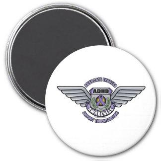 ADHD-medalj Magnet Rund 7.6 Cm