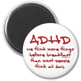 ADHD-tänka mer Magnet Rund 5.7 Cm