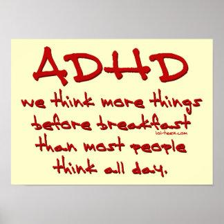 ADHD-tänka mer Poster