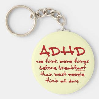 ADHD-tänka mer Rund Nyckelring