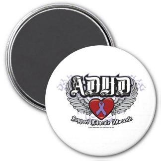 ADHD-vingar Magnet Rund 7.6 Cm