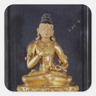 Adibuddha Vajrasattva som placeras i meditation Fyrkantigt Klistermärke