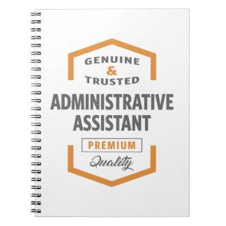 Administrativ assistent anteckningsbok