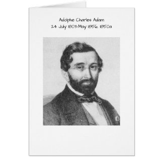 Adolphe Charles Adam, 1850a Hälsningskort
