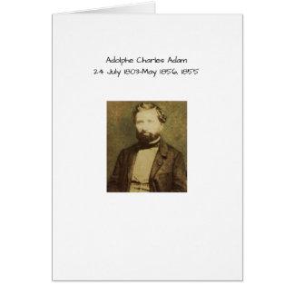 Adolphe Charles Adam, 1855 Hälsningskort