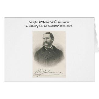 Adolphe (wilhelm Adolf) Gutmann Hälsningskort
