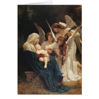 Adolphe-William Bouguereau. Sång av änglar Hälsningskort