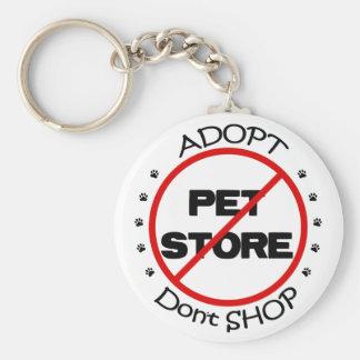Adopt shoppar inte Keychain Rund Nyckelring