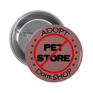Adopt shoppar inte knäppas pins