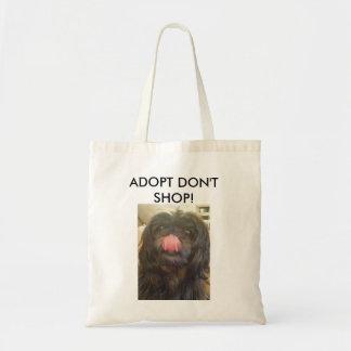 Adopt shoppar inte toto hänger lös budget tygkasse