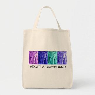 ADOPTERA en organisk shopping bag för VINTHUND Tygkasse