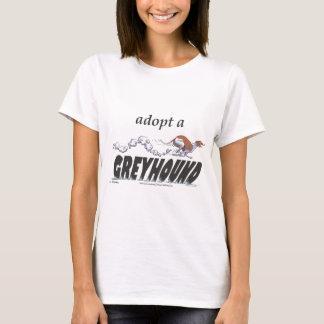 Adoptera en vinthund! t shirts