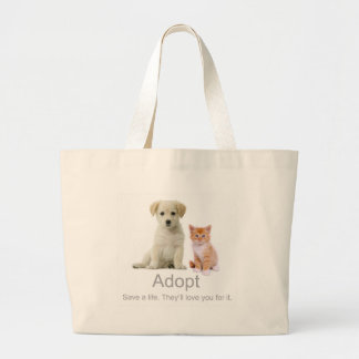 adoptera ett husdjur jumbo tygkasse