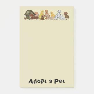 Adoptera ett husdjur post-it block