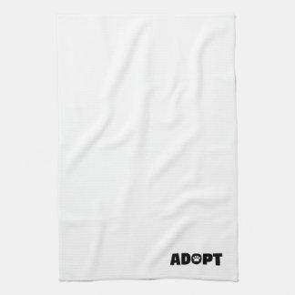 Adoptera tasstryckkökshandduken handuk