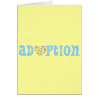 adoption hälsningskort