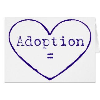 Adoption = kärlek i blått hälsningskort