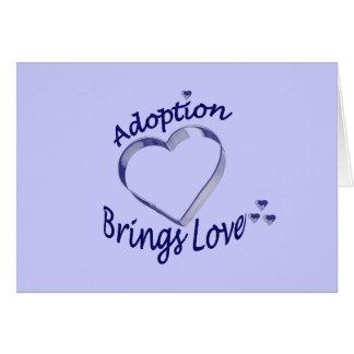 Adoption kommer med kärlekkortet hälsningskort