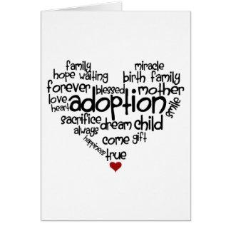Adoption-ord Hälsningskort