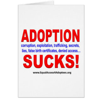 Adoption suger! hälsningskort