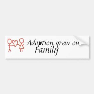 Adoption växte vår rikliga familj bildekal
