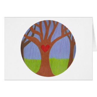 Adoptionträd Hälsningskort