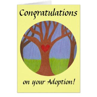 Adoptionträdgrattis på din adoption! hälsningskort