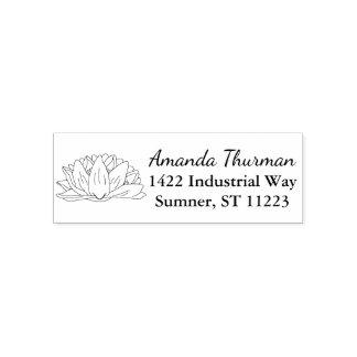 Adress för namn för illustration för näckrosblomma självfärgande stämpel