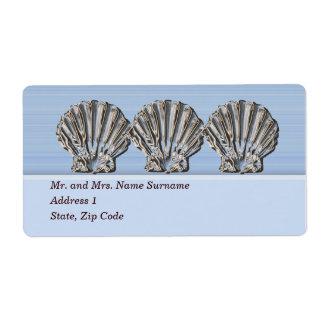 Adress för snäcka för strandblåttkammussla fraktsedel