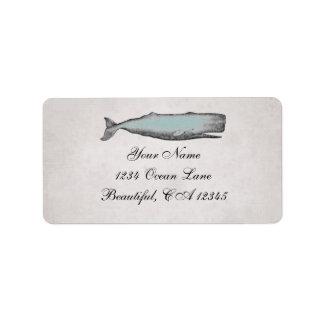 Adress för strand för vintageVictorianval Adressetikett