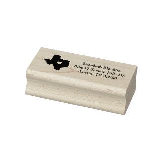 Adress för Texas frimärke för konst för statlig Stämpel