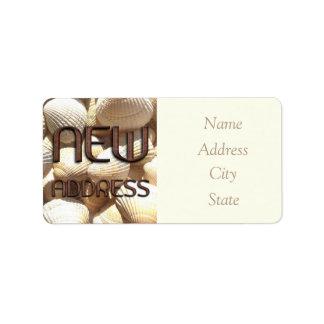 Adressändring märker snäckor roliga tegelstenar adressetikett