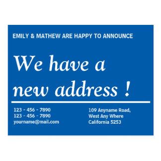 Adressändring ny adress | för adressändring | vykort