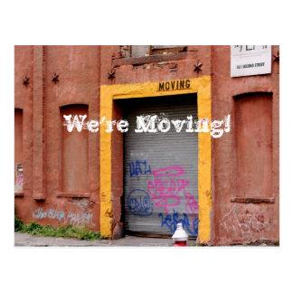 Adressändringvykort - vi flyttar oss! vykort